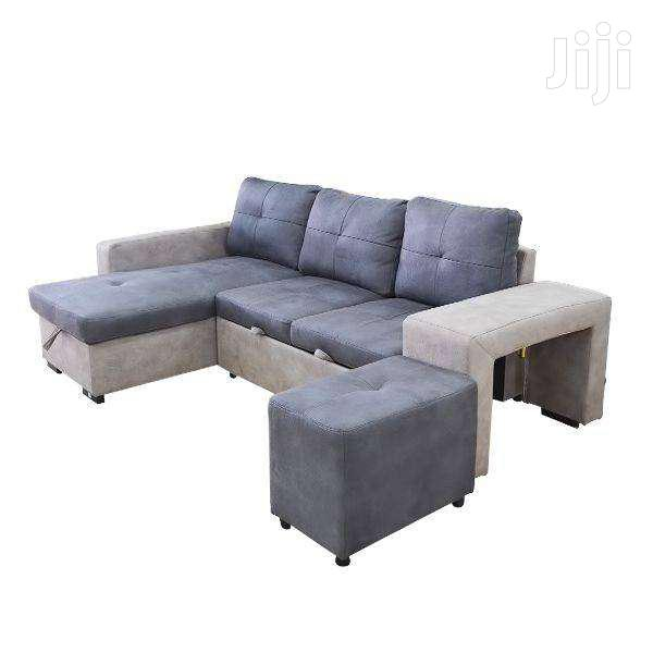 L SHAPE SOFA/SOFA BED GREY/TAUPE | Furniture for sale in Adenta Municipal, Greater Accra, Ghana