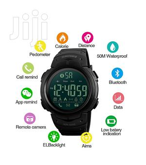 Water Resistant Digital Smart Wristwatch - Black