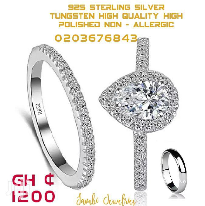 Three Set Silver Rings for Wedding