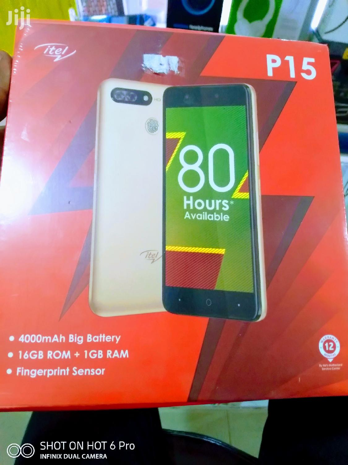 New Itel P15 16 GB Gold | Mobile Phones for sale in Teshie-Nungua Estates, Greater Accra, Ghana
