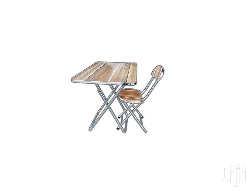Folding Dining/Study Table and Chair Set - Light Brown | Furniture for sale in Tema Metropolitan, Greater Accra, Ghana
