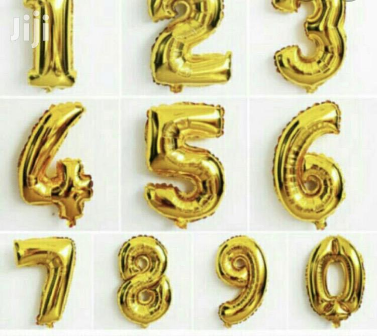 Alphabet And Number Foil Balloons