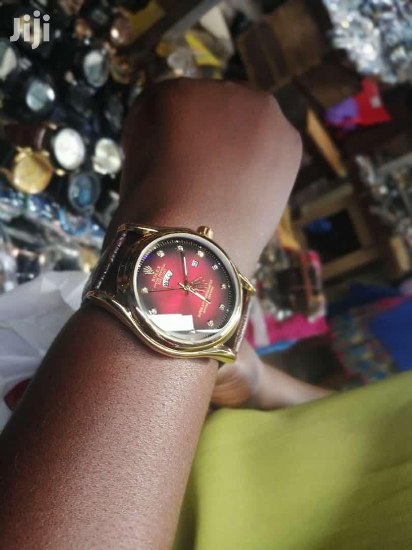 Rolex Genuine Leather Watch With a Case | Watches for sale in Kumasi Metropolitan, Ashanti, Ghana
