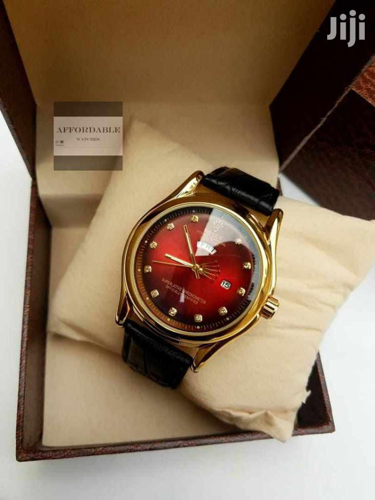 Rolex Genuine Leather Watch With a Case