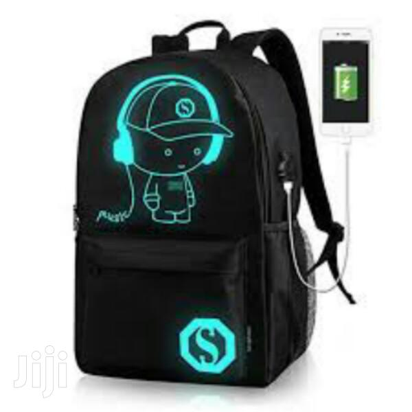 Schoolbag With USB Charging Port Night Fluorescent Effect