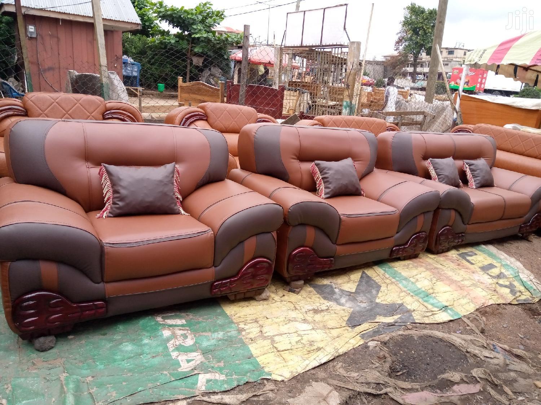 Multi Colored Leather Sofa Set