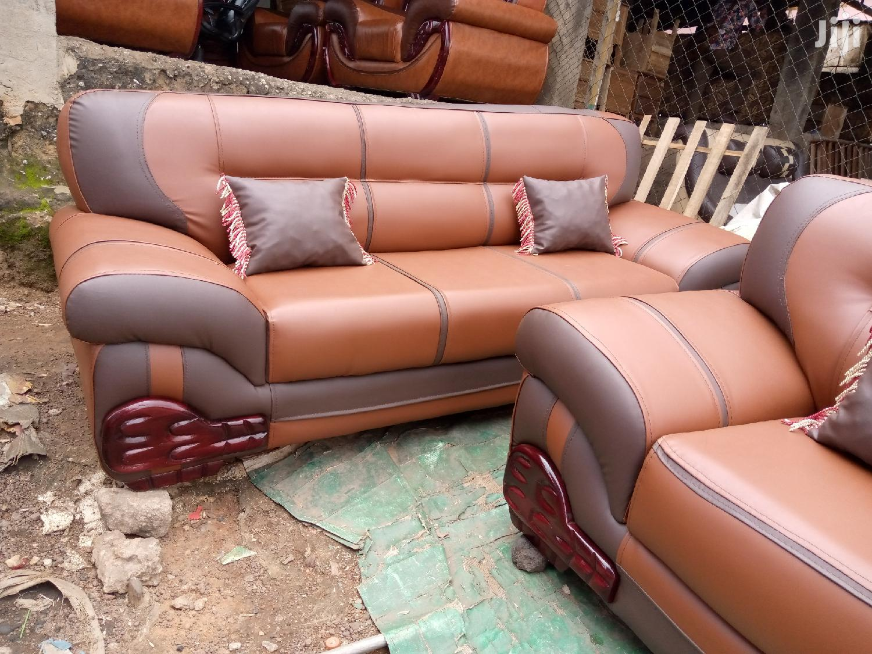 Multi Colored Leather Sofa Set   Furniture for sale in Kumasi Metropolitan, Ashanti, Ghana