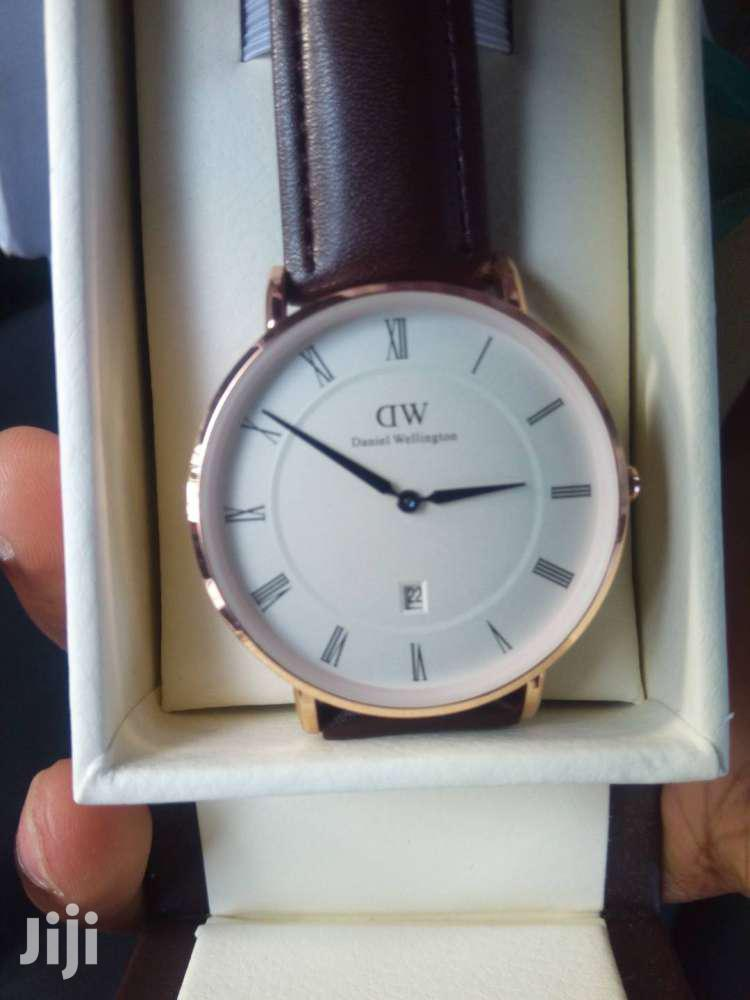 Brown Leather Daniel Welington Watch | Watches for sale in Okponglo, Greater Accra, Ghana