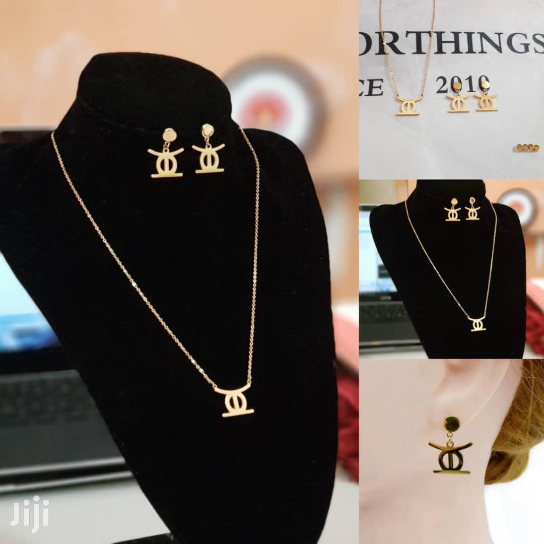 Archive: High Quality Stainless Steel Ohene Adwa Jewelry Set