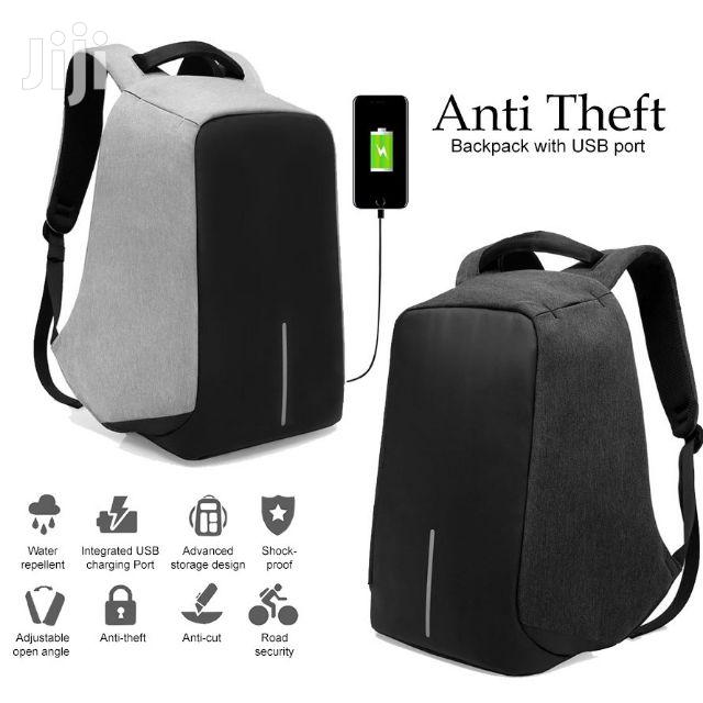 Anti-theft Multi-functional Backpack - Black/Grey