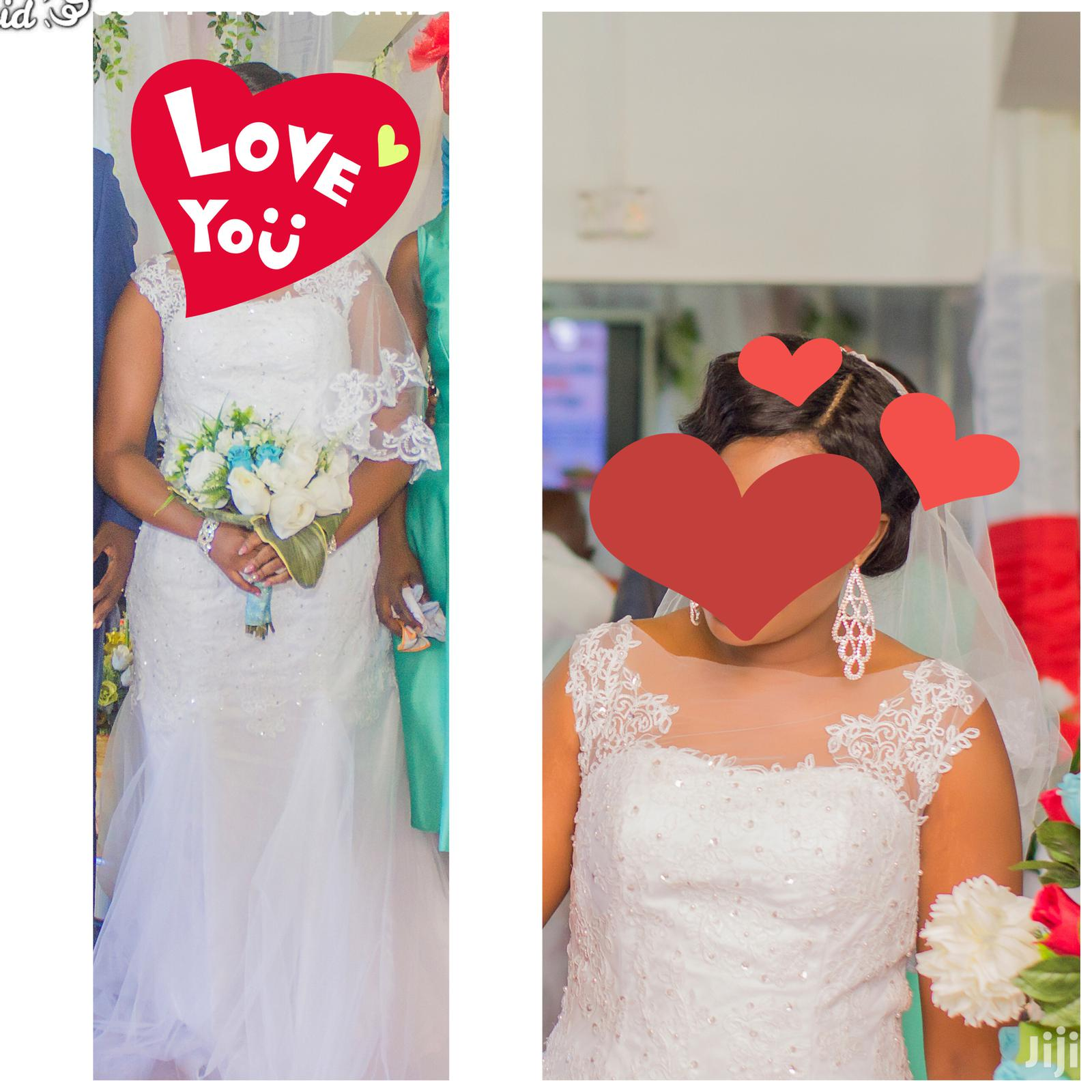 Classic Wedding Gown With Free Veil | Wedding Wear & Accessories for sale in Accra Metropolitan, Greater Accra, Ghana