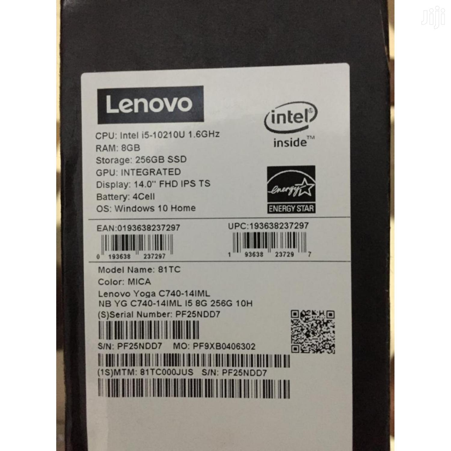 New Laptop Lenovo 8GB Intel Core I5 SSD 256GB | Laptops & Computers for sale in Achimota, Greater Accra, Ghana