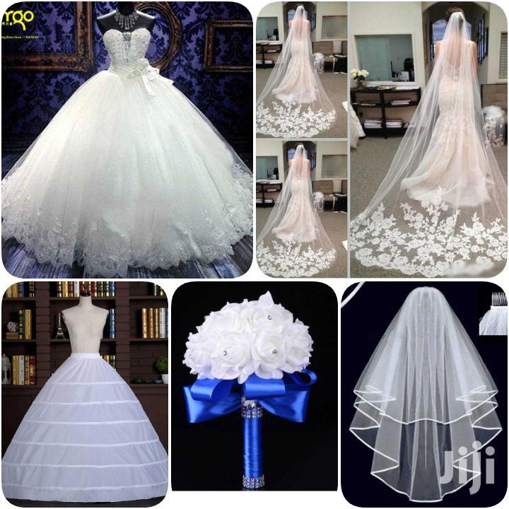 Gown, Veil,Understirk, Bouquet Combo