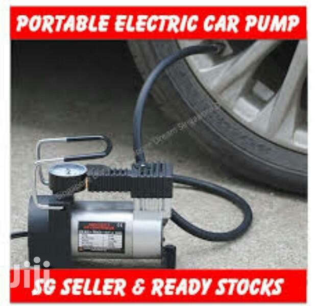 Portable Car Tire Pump Plus Puncture Tool Kit