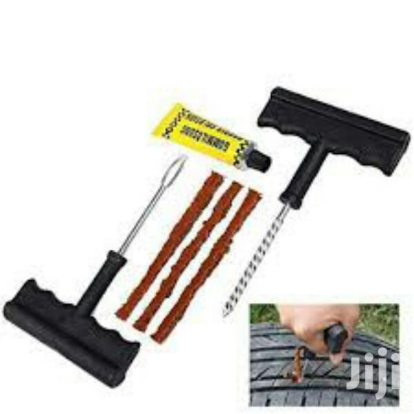 Portable Car Tire Pump Plus Puncture Tool Kit   Vehicle Parts & Accessories for sale in North Kaneshie, Greater Accra, Ghana