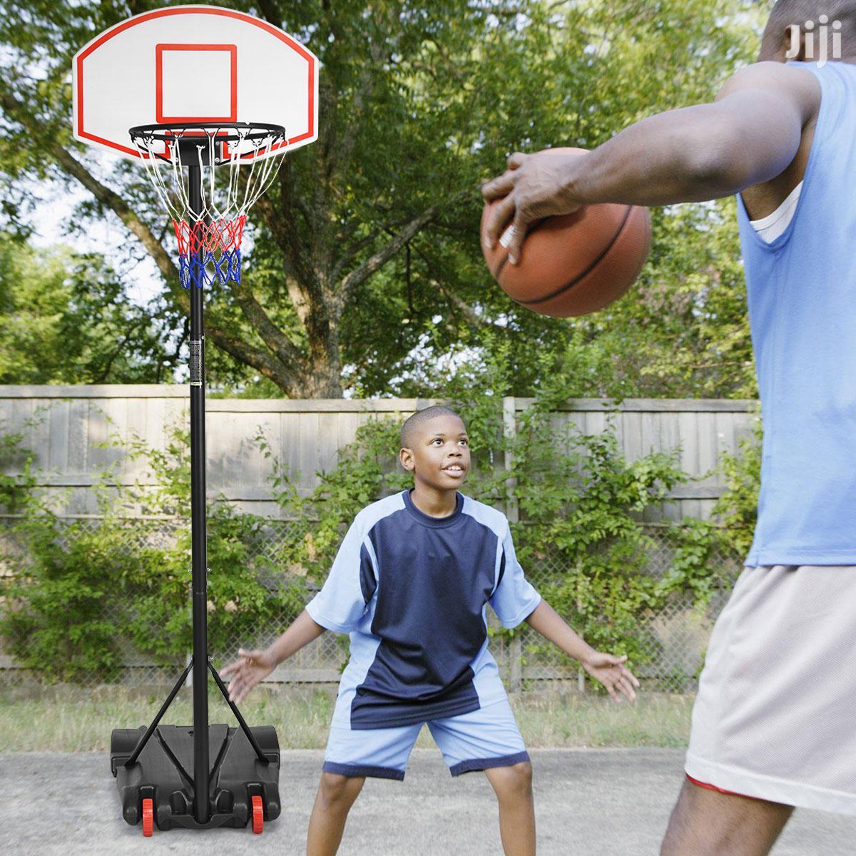 Kids Basketball Stan Hoop System Free Ball New 7ft