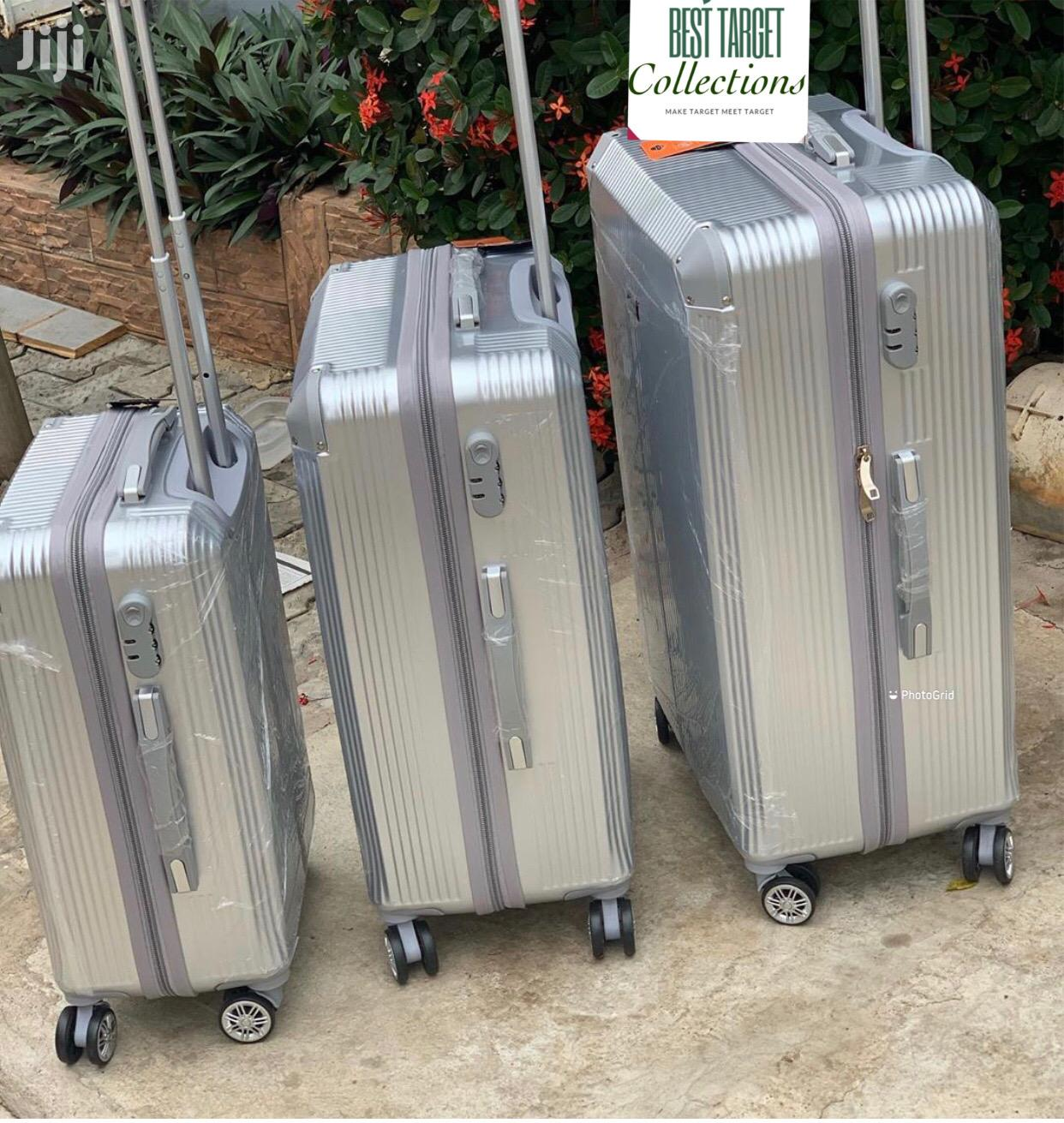 Quality Tough Fiber Skin 3 Set Silver 3 Set Luggage | Bags for sale in Kokomlemle, Greater Accra, Ghana