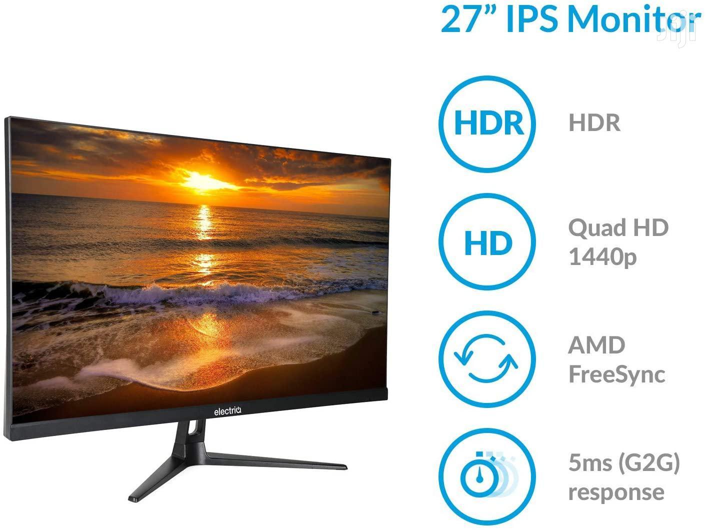 "27"" QHD 2K Electriq Gaming Monitor 100hz"