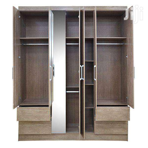 WARDROBE 6 DOOR NOGAL TOUCH | Furniture for sale in Adenta Municipal, Greater Accra, Ghana