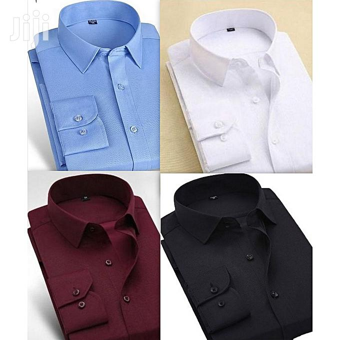 Quality Long Sleeve Shirt - 4 Pieces - Multicolour | Clothing for sale in Ledzokuku-Krowor, Greater Accra, Ghana