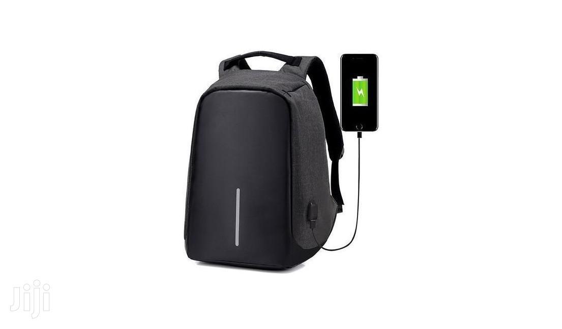 Anti-theft Waterproof Multi-functional Backpack - Black