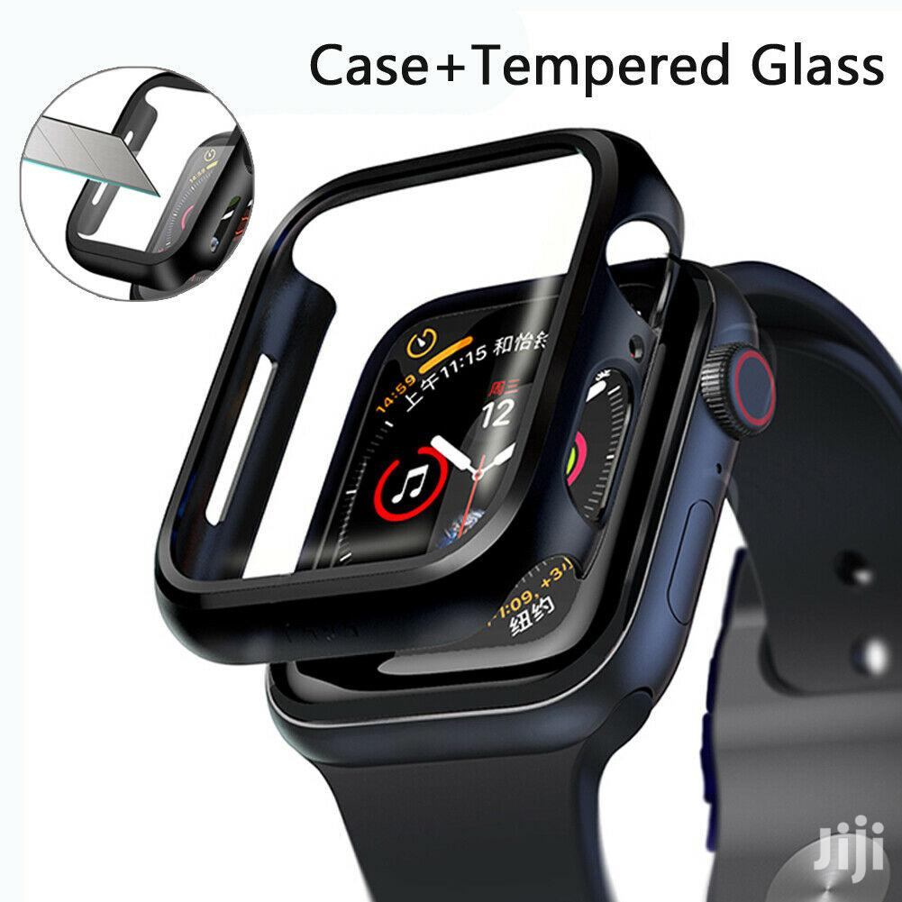 Apple Watch Series 5 4 3 2 1 Silicone With Protector Case