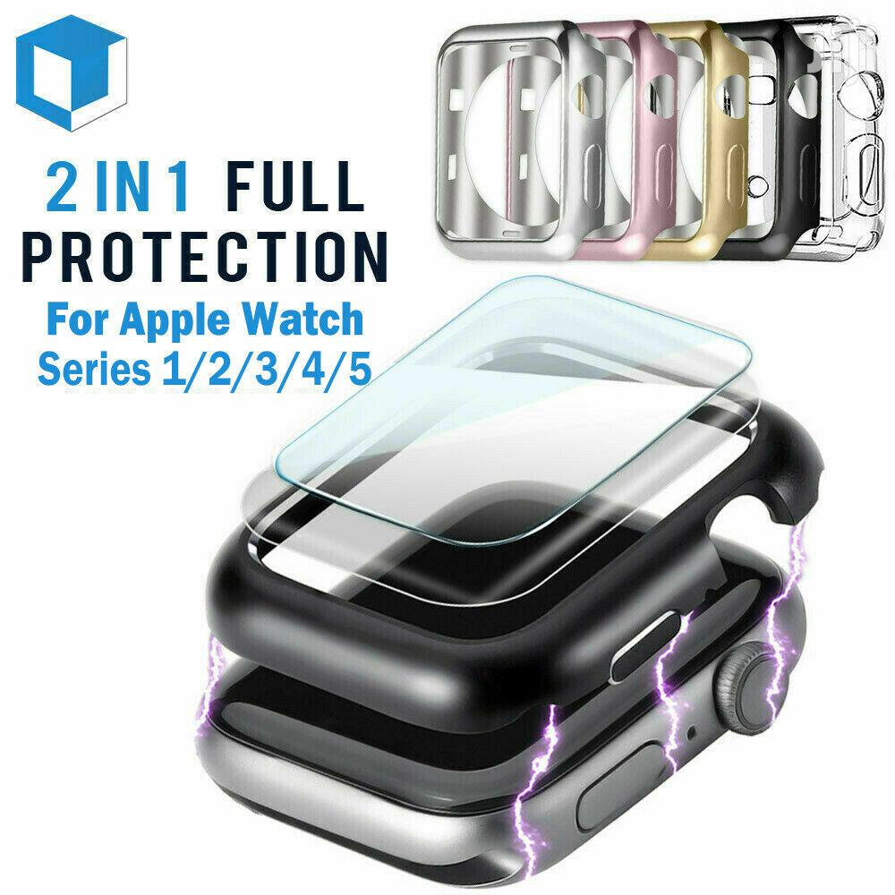 Apple Watch Series 5 4 3 2 1 Silicone With Protector Case | Smart Watches & Trackers for sale in Achimota, Greater Accra, Ghana