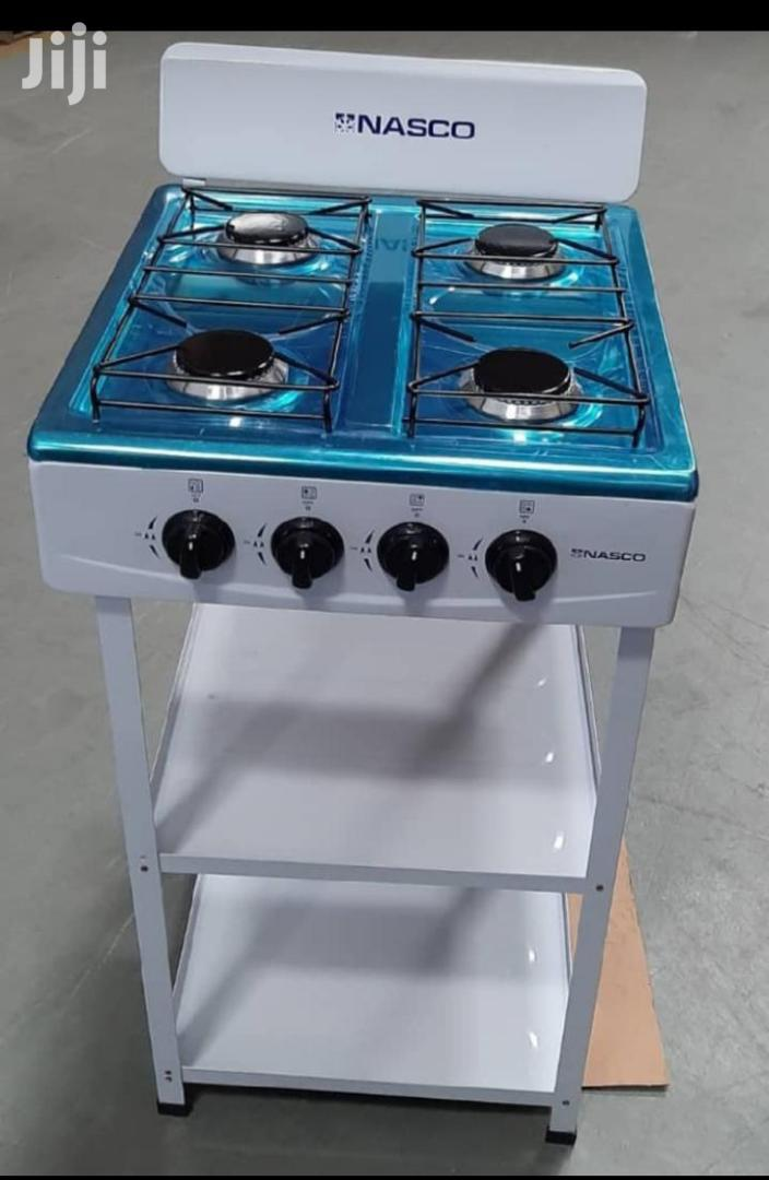 Nasco  4 Burner  Gas Stove With 2 Shelves
