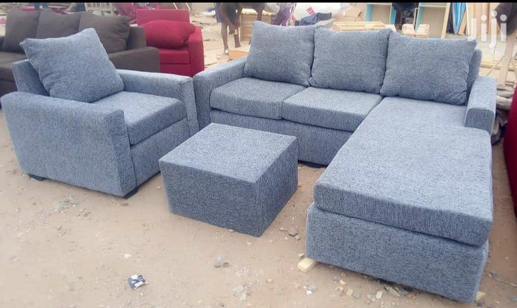 Quality Sofa L Shape and Single With Centre | Furniture for sale in Alajo, Greater Accra, Ghana