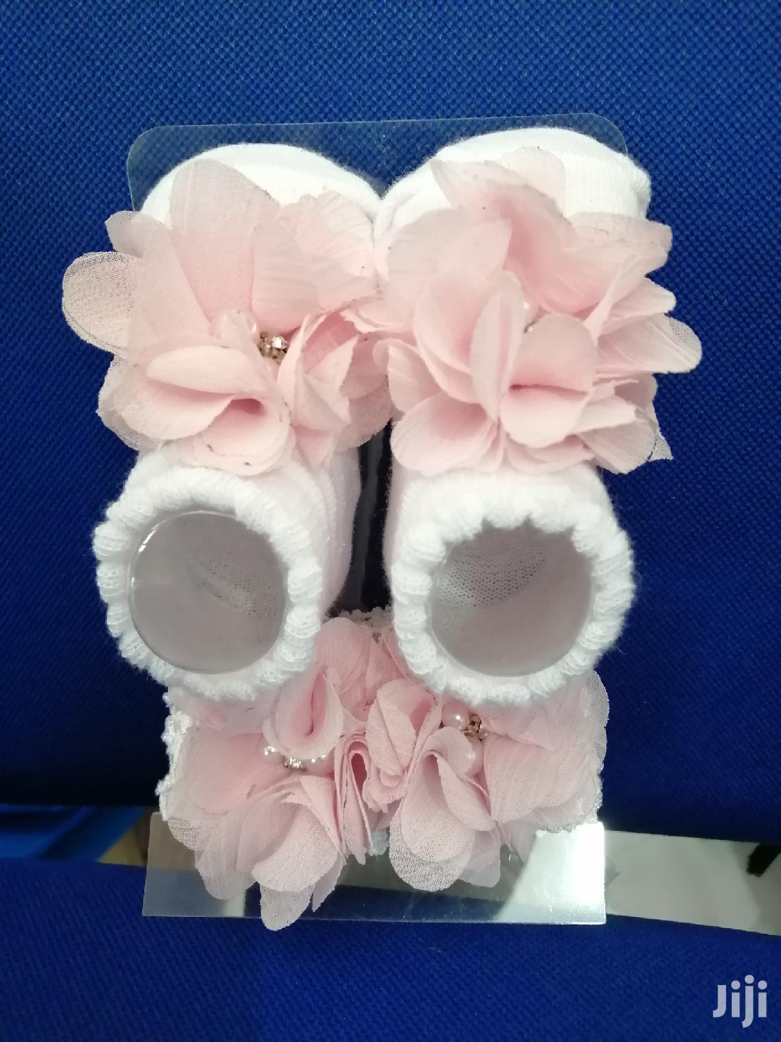 Ribbon And Baby Shoe Socks For 0 To 12 Months | Children's Shoes for sale in Korle Gonno, Greater Accra, Ghana