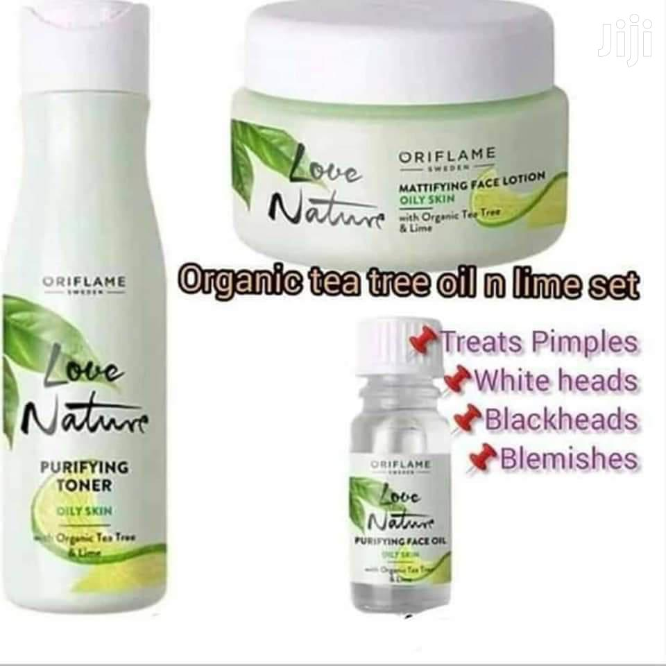 Organic Tea Tree Oil And Lime Set