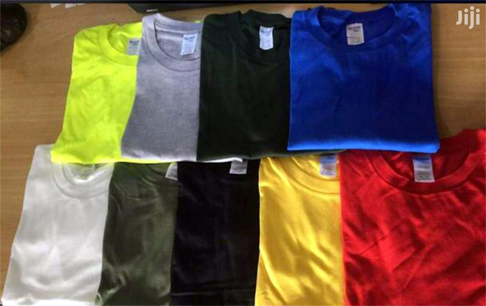 Gildan Premium Cotton Plain T-Shirts | Clothing for sale in Accra new Town, Greater Accra, Ghana