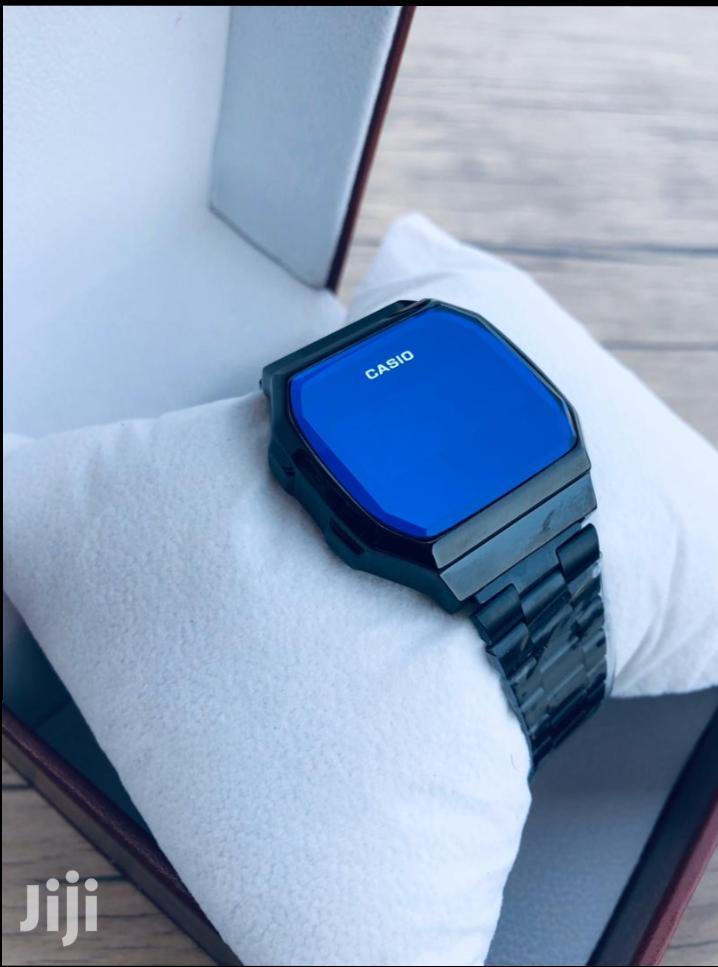 All Black Digital Touch Display Casio Watch