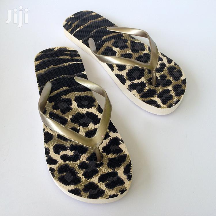 Leopard Skin Floor Flip-Flop Slippers | Shoes for sale in Ashaiman Municipal, Greater Accra, Ghana
