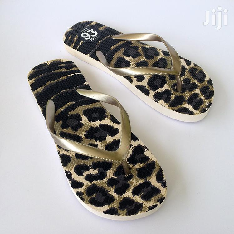 Leopard Skin Floor Flip-Flop Slippers