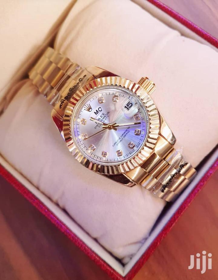 Luxury Fashion Analog & Date Display Stainless Gold Rolex