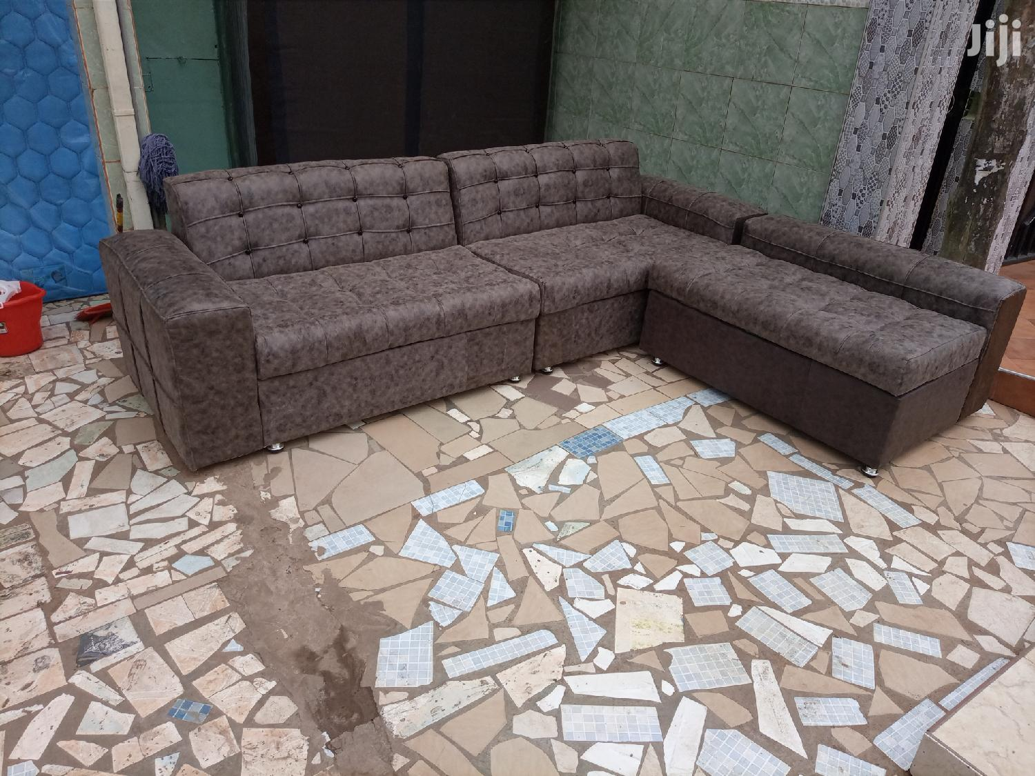 Promotion L Shaped Sofa Chair. Free Delivery | Furniture for sale in Korle Gonno, Greater Accra, Ghana