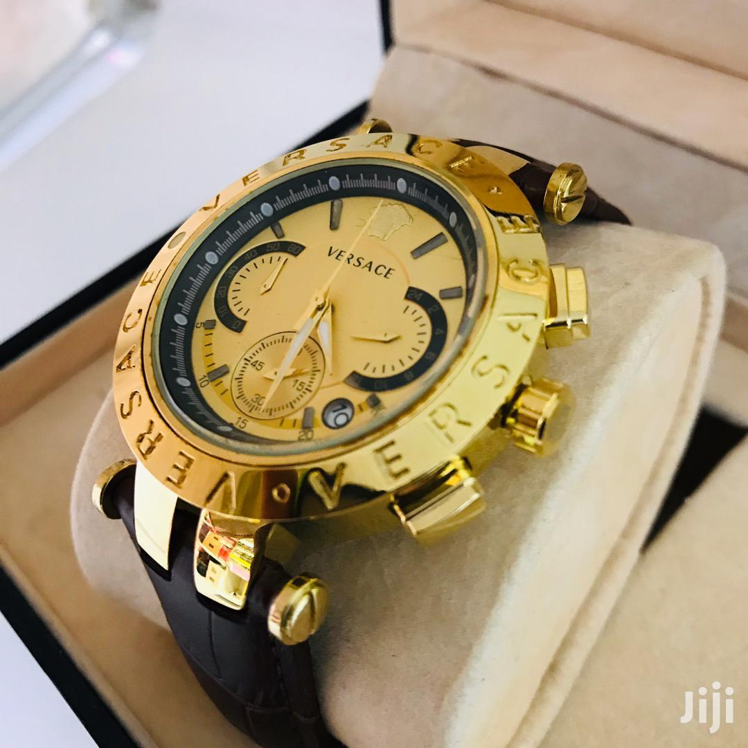 Luxury Versace Stainless Case Analog Display Watch