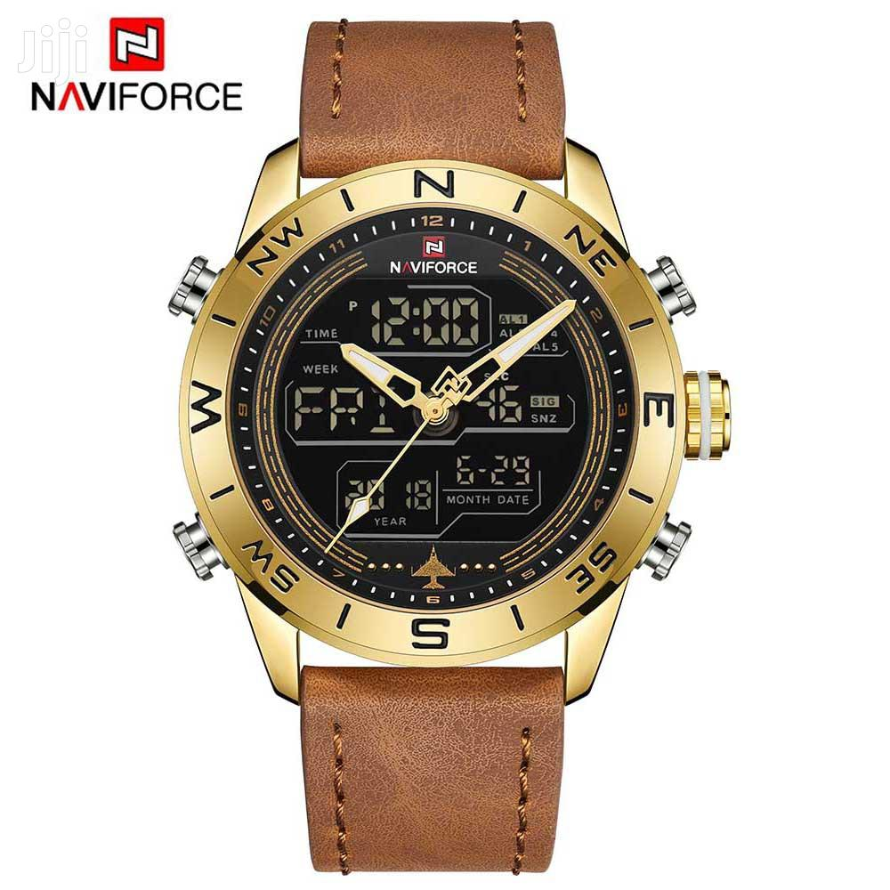 Naviforce 9144 Leather Watch
