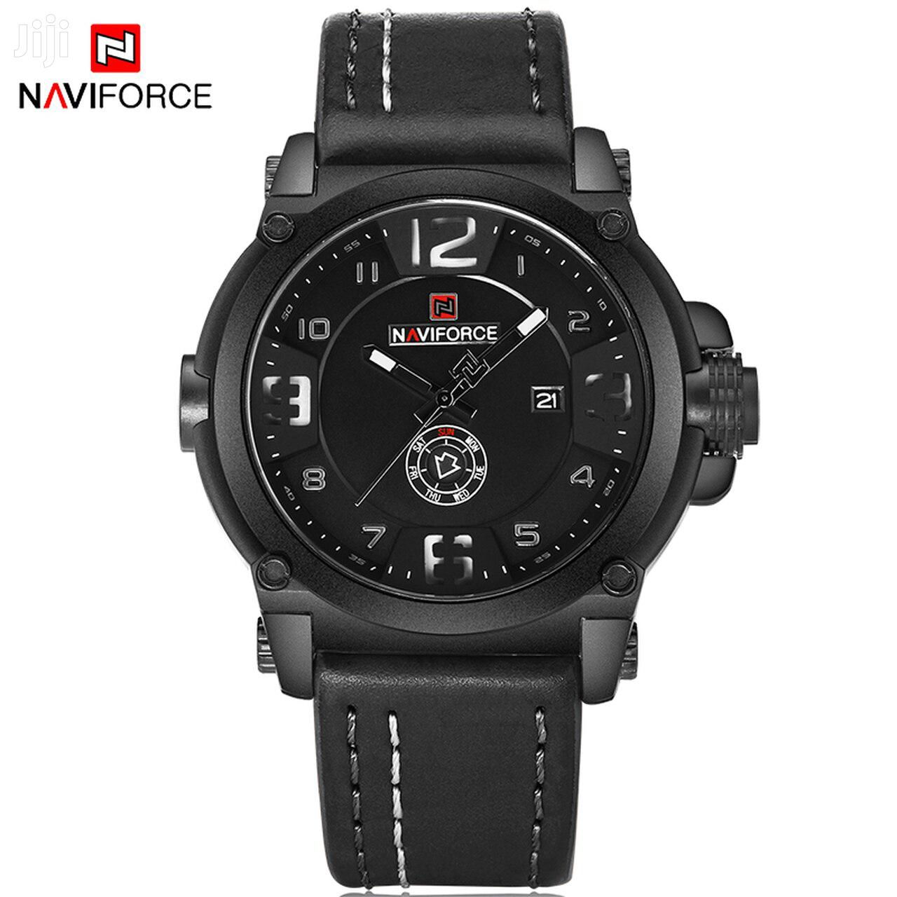 Naviforce 9099 Leather Watch