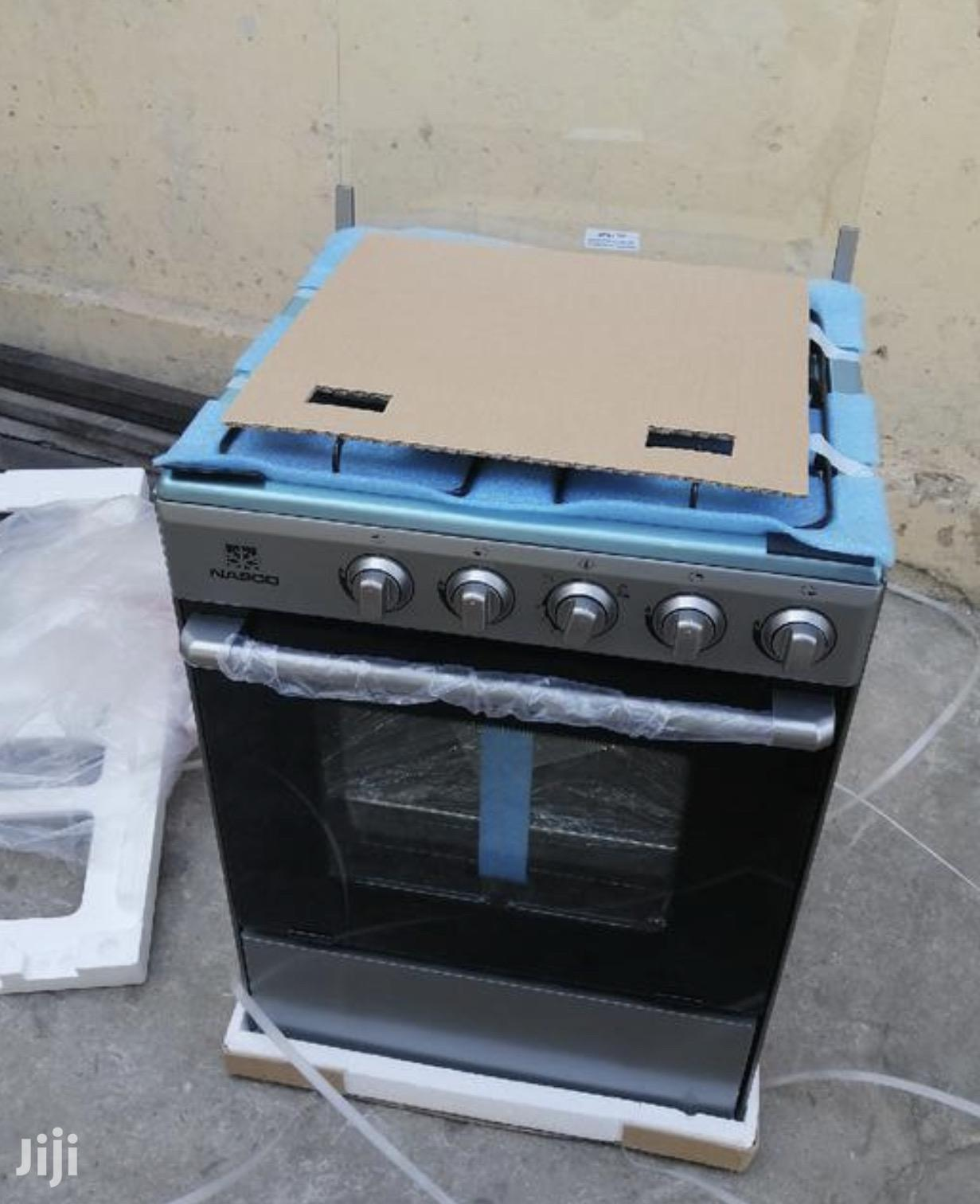 New Nasco 4 Burner Gas Cooker With Oven Grill Stainless