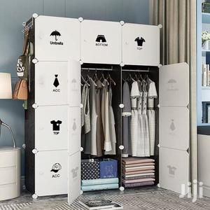 12 Cubes Wardrobe + 3 Shoe Rack -(Same As Pic ) Black/White   Furniture for sale in Greater Accra, Achimota