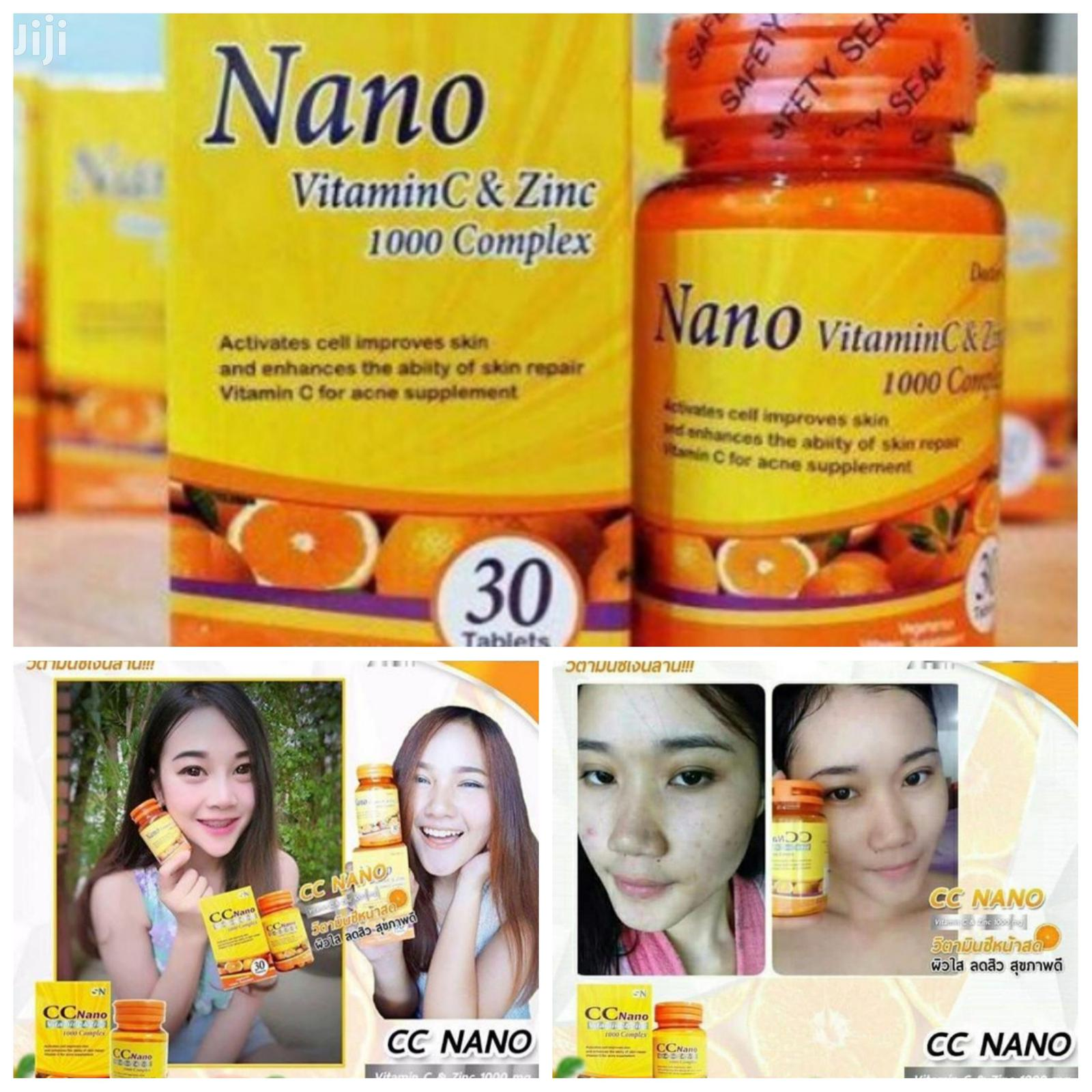 CC Nano Vitamin C and Zinc 1000mg Complex Brightening C Skin | Vitamins & Supplements for sale in Achimota, Greater Accra, Ghana