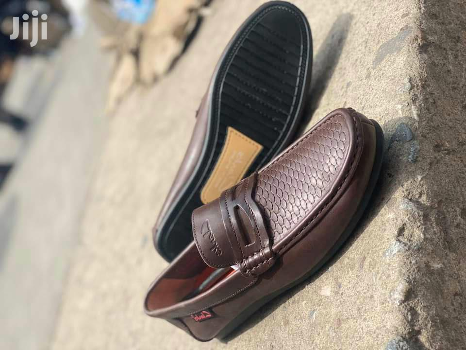 Clarks Brown Leather Men's Loafers