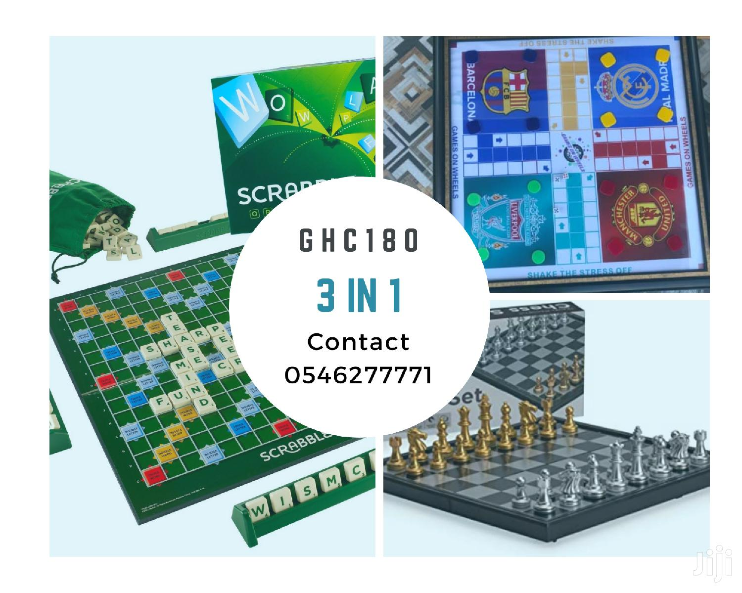 Ludu, Scrabble and Chess. 3 in 1