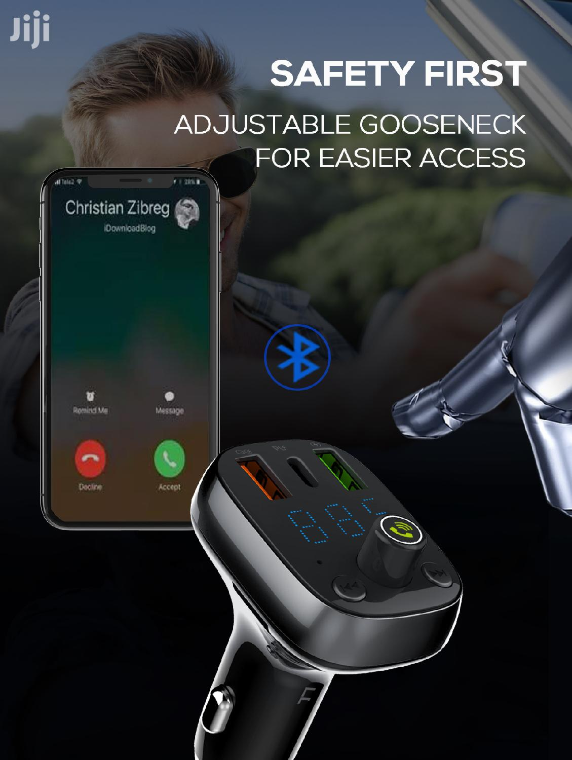 LNDIO Bluetooth Carkit With USB C Output | Vehicle Parts & Accessories for sale in Ga East Municipal, Greater Accra, Ghana