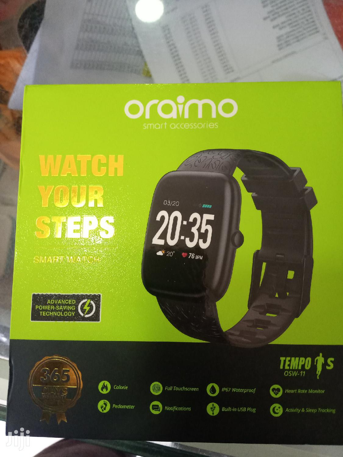 Oraimo Tempo S Ip67 S Waterproof Smart Watch | Smart Watches & Trackers for sale in Achimota, Greater Accra, Ghana