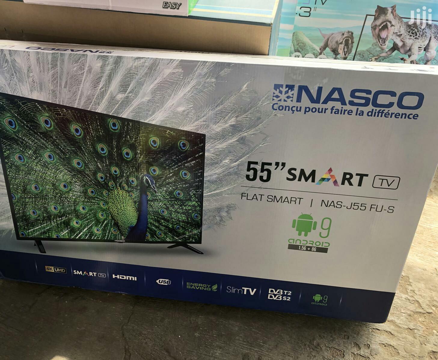 """Brand New Nasco 55"""" Uhd 4k Smart Digital & Satellite Led Tv"""