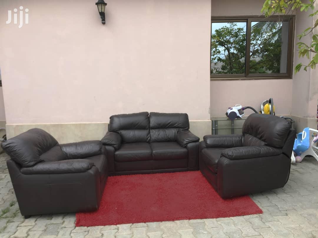 Full Set Leather Sofas | Furniture for sale in Awutu Senya East Municipal, Central Region, Ghana