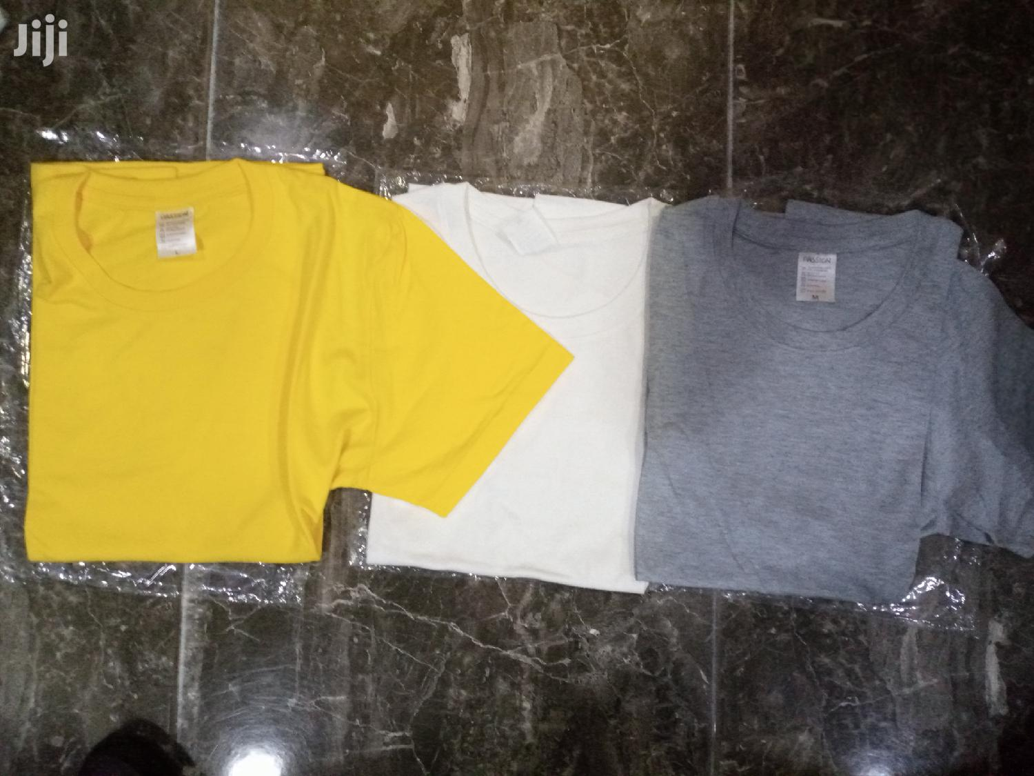 Passion Cotton Plain T-shirt | Clothing for sale in Accra new Town, Greater Accra, Ghana